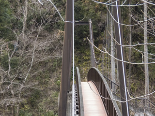 御岳渓谷の吊り橋