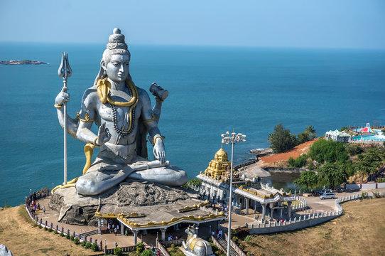 Big Shiva. Lord Shiva Statue in Murudeshwar, Karnataka, India. Tour from Goa and Gokarna.