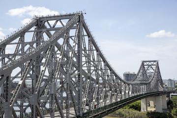 BRISBANE, AUSTRALIA: Story Bridge on a sunny day -  closeup