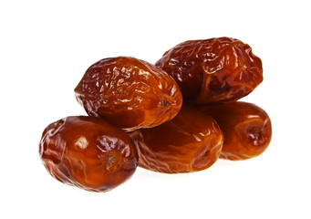 Dates fruit isolated on a white background