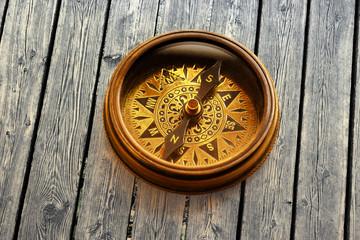 Vintage metal compass