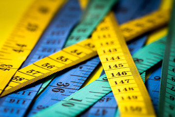 Close up measuring tape , extreamly shallow DOF