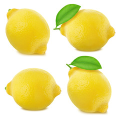 Lemons set isolated on white background