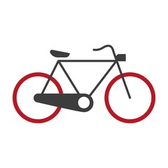 Bicycle graphic silhouette logotype vector icon on white