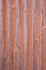 Rusty corrugated metal wall ,rusty Zinc grunge style background