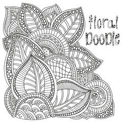 Floral doodle.