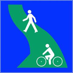 Parcours piéton vélo
