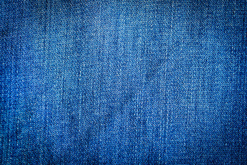 Close up details blue jeans texture background