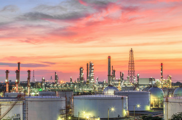 Oil and gas refinery a - Petrochemical factory