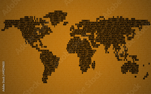 Abstract world map with letters of english alphabet vector abstract world map with letters of english alphabet vector background gumiabroncs Image collections