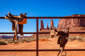 Saddle up -The Wild West -Monument Valley