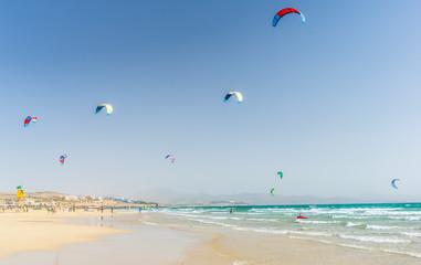Kite - Surferparadies, Playa De Sotavento auf Fuerteventura