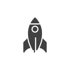 Rocket icon vector, filled flat sign, solid pictogram isolated on white. Startup symbol, logo illustration. Pixel perfect