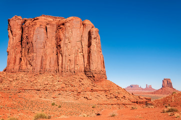 North Window Overlook Panorama in Monument Valley