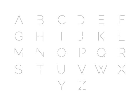 Font. Typographic alphabet with vibrant gradient. Modern futuristic typeface