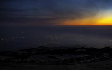 Tramonto sull'Etna