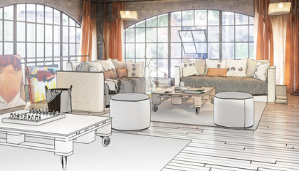 Postindustrial Loft Conception (project)