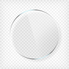 Round Glass Plate with Shadow