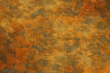 Oil painting on canvas vintage orange brown abstract background with brush strokes texture. Art concept.