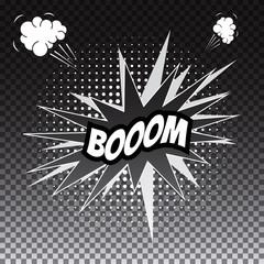 Pop art comic speech bubble, boom