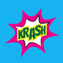 Comic speech bubble, krash