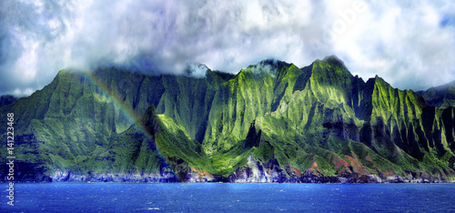 Wall mural Napali Cliffs Pano