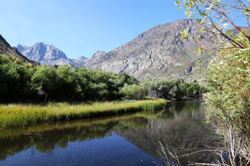 Wall Mural - Peaceful Mountain River in Sierra Nevada Mountains, California