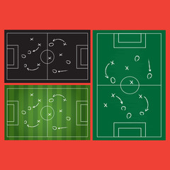 Football strategy signs illustration