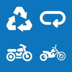 Set of 4 cycle filled icons
