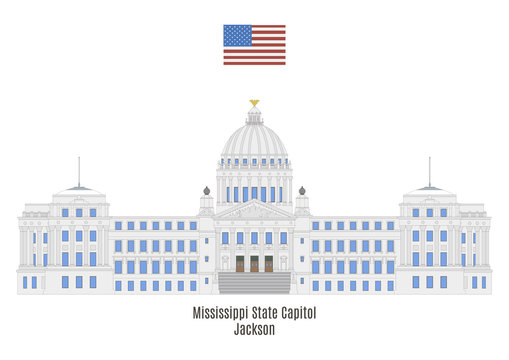 Mississippi State Capitol in Jackson, United States of America