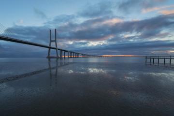View of Vasco Da Gama bridge, Lisbon, Portugal