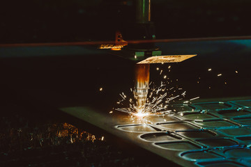 Steel cutting process with gas. Oxy-fuel cutting are processes that use fuel gases and oxygen to weld and cut metals