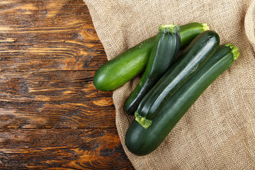 zucchini on a wooden background
