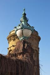 Lampe vor Wasserturm in Mannheim