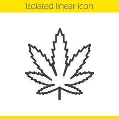 Marijuana leaf linear icon