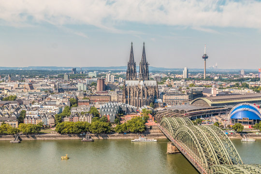 Nice view of Cologne Germany