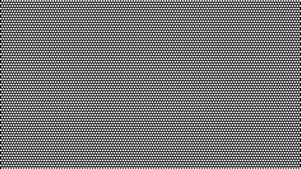 Vector background. White circles on a black background.