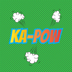 Pop art comics Kapow speech bubble