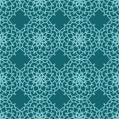 Abstract Seamless Pattern. Ethnic decorative elements for print and cloth, fabrics and canvas texture or any other kind of design. Boho Style.