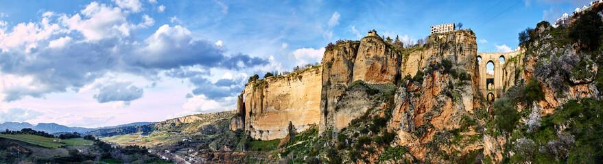 Fototapete - Ronda and surroundings, Panorama