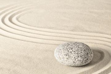 Acrylic Prints Stones in Sand Spa wellness zen stone garden. Relaxation and meditation towards spirituality. Meditative background. ..