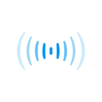 wifi signal connection sound radio wave logo symbol