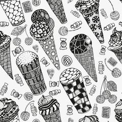 Seamless diagonal with Ice cream