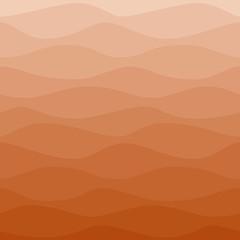 Gradual wavy red orange background