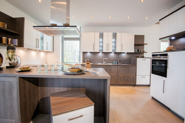 Wohndesign - helle, moderne Küche