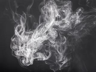 smoke on a black background closeup