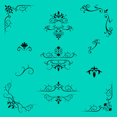 Decorative design elements, border and page rules