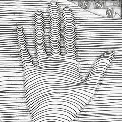 Art hand. Artistically pattern.