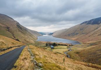 Typical Scottish landscape in winter