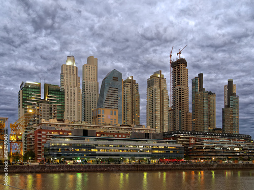 Wall mural Buenos Aires skyline at night